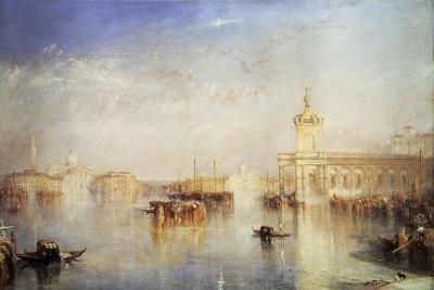 The Dogana, San Giorgio, Citella, from the Steps of the Europa, Venice, 1842-J^ M^ W^ Turner-Giclee Print