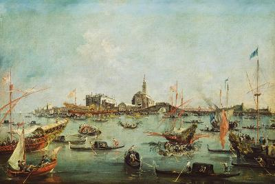 The Doge on the Bucentaur in Front of San Nicolò Del Lido, on Ascension Day, C.1766-70-Francesco Guardi-Giclee Print