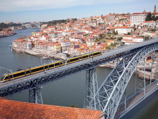The Dom Luis 1 Bridge over River Douro, Porto (Oporto), Portugal-Adina Tovy-Photographic Print