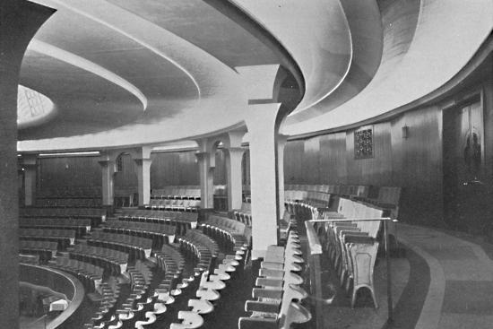 'The Dome: Interior After the Alterations - details of inner roof and panelling', 1939-Unknown-Photographic Print