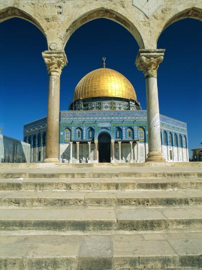 The Dome of the Rock, Temple Mount, Old City, Jerusalem, Israel, Middle East-Sylvain Grandadam-Photographic Print