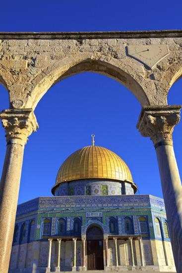 The Dome of the Rock, Temple Mount, UNESCO World Heritage Site, Jerusalem, Israel, Middle East-Neil Farrin-Photographic Print
