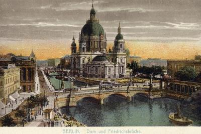 The Dome of the Royal Palace and Friedrichsbrucke in Berlin--Photographic Print