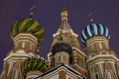 The Domes of Saint Basil's Cathedral (Hram Vasilija Blazennogo)--Photographic Print