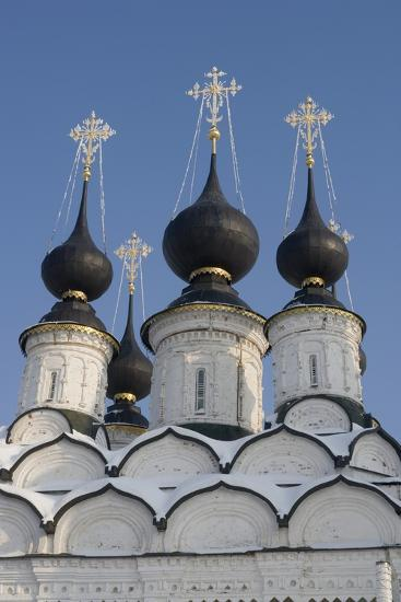 The Domes of the Winter Church of St Antipas, 1745, Suzdal, Golden Ring, Russia--Photographic Print