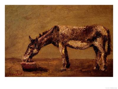 The Donkey-Gustave Courbet-Giclee Print