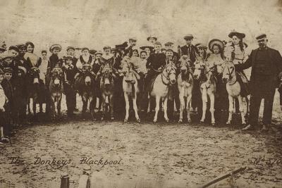 The Donkeys, Blackpool--Photographic Print