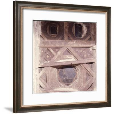 The doorway of an old multi-storeyed house in San'a-Werner Forman-Framed Giclee Print