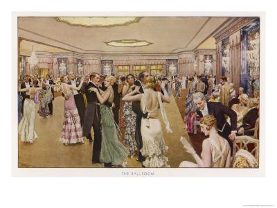 The Dorchester the Ballroom-Fortunio Matania-Giclee Print