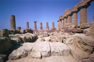 The Doric Temple of Hera at Agrigento, 5th Century Bc-CM Dixon-Photographic Print
