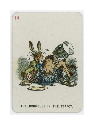 The Dormouse in the Teapot-John Tenniel-Giclee Print