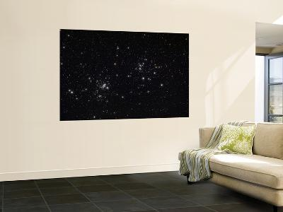 The Double Cluster in the Constellation Perseus-Stocktrek Images-Wall Mural