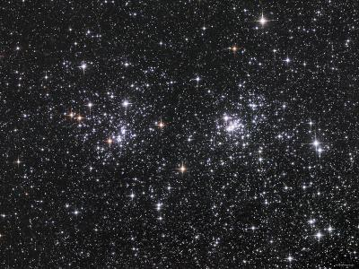 The Double Cluster, NGC 884 and NGC 869, as Seen in the Constellation of Perseus-Stocktrek Images-Photographic Print