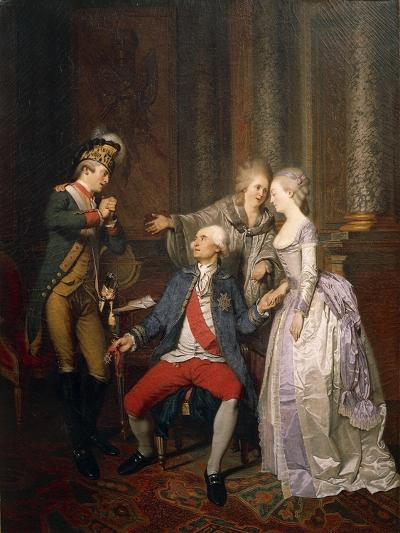 The Double Reward of the Merit or the Return from the American War of Independence-Pierre Alexandre Wille-Giclee Print