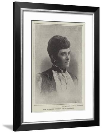 The Dowager Duchess of Sutherland--Framed Giclee Print