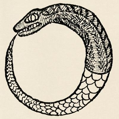 The Dragon Ouroboros, from La Magie Noire, France