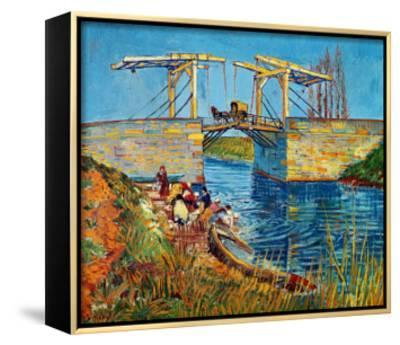 The Drawbridge at Arles with a Group of Washerwomen, c.1888-Vincent van Gogh-Framed Canvas Print