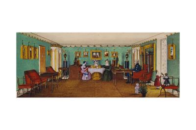 The Drawing Room in the House of Count Josef August Ilinsky in Romaniv, 1834--Giclee Print