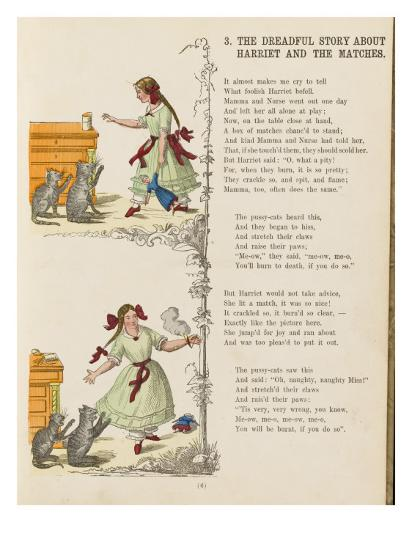 The Dreadful Story About Harriet and the Matches--Giclee Print