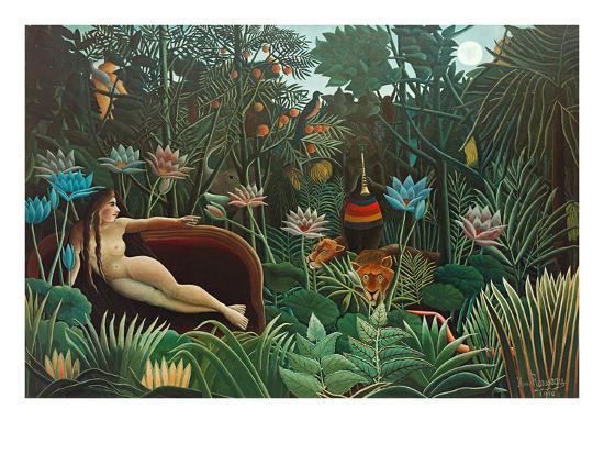 The Dream, 1910-Henri Rousseau-Premium Giclee Print