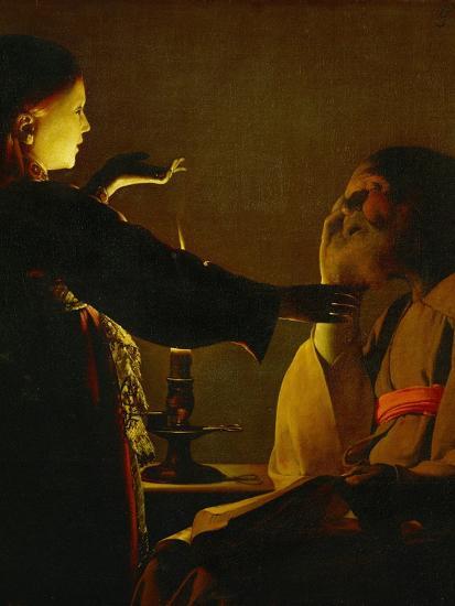 The Dream of Saint Joseph, circa 1635-1640-Georges de La Tour-Giclee Print