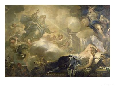 The Dream of Solomon, c.1693-Luca Giordano-Giclee Print