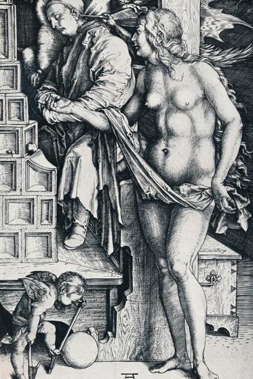 The Dream of the Doctor, 1497-1498-Albrecht D?rer-Giclee Print