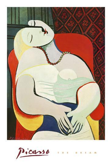 The Dream-Pablo Picasso-Art Print