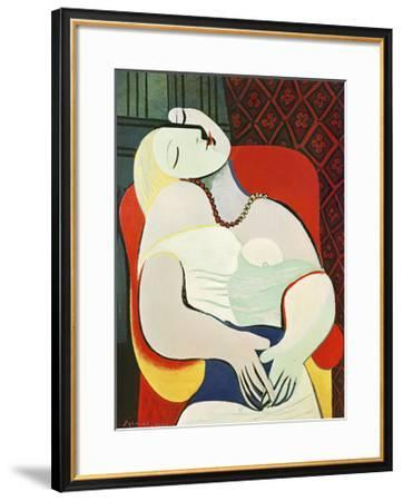 The Dream-Pablo Picasso-Framed Art Print