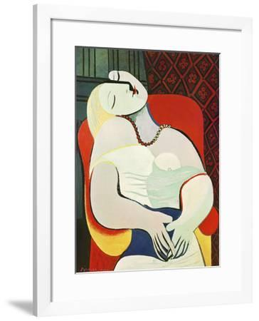 The Dream-Pablo Picasso-Framed Art Print