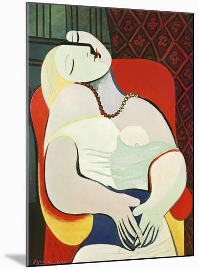 The Dream-Pablo Picasso-Mounted Art Print