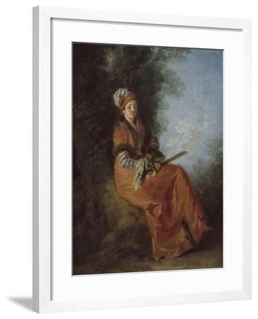 The Dreamer, 1712-14-Jean Antoine Watteau-Framed Giclee Print