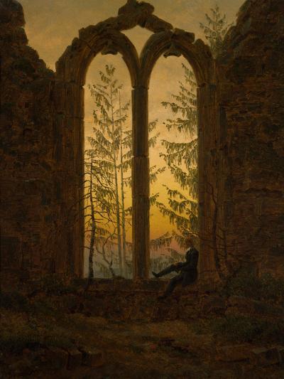 The Dreamer-Caspar David Friedrich-Giclee Print