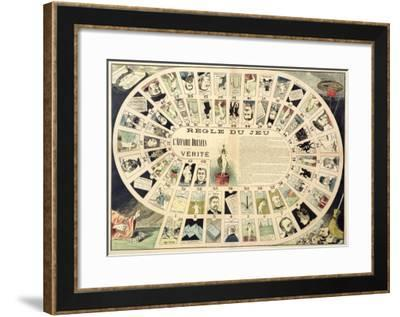 The Dreyfus Affair Game, with Portraits of the Various Individuals Involved, Late 19th Century--Framed Giclee Print