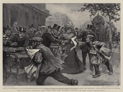 The Dreyfus Verdict, the Rush for the Evening Papers on the Paris Boulevards-William T^ Maud-Giclee Print