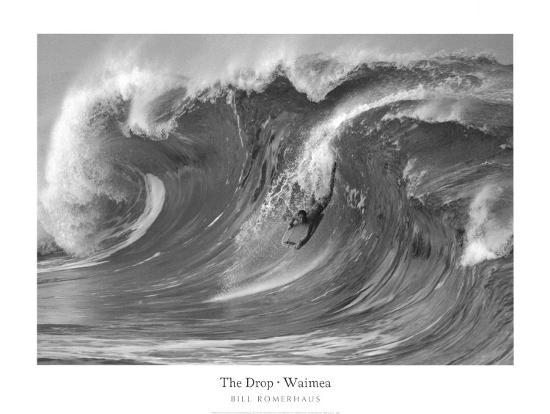 The Drop, Waimea-Bill Romerhaus-Art Print