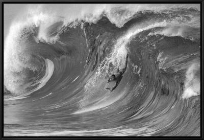 The Drop, Waimea-Bill Romerhaus-Framed Canvas Print
