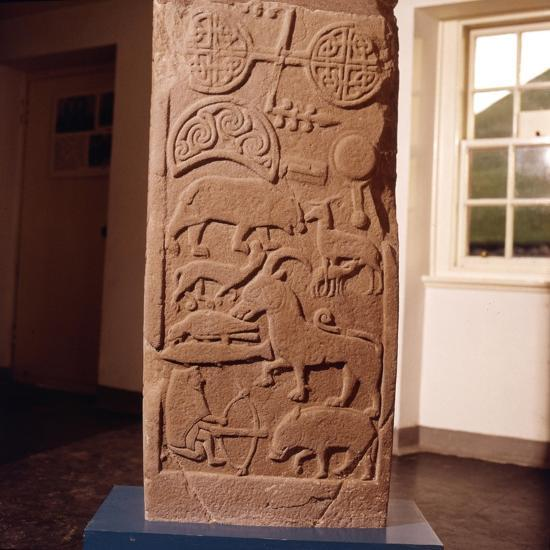 The 'Drosten' Stone, Pictish Cross-Slab from St. Vigeans, c850-Unknown-Giclee Print