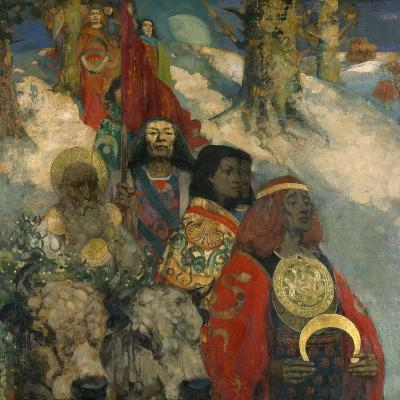 The Druids - Bringing in the Mistletoe, 1890--Giclee Print