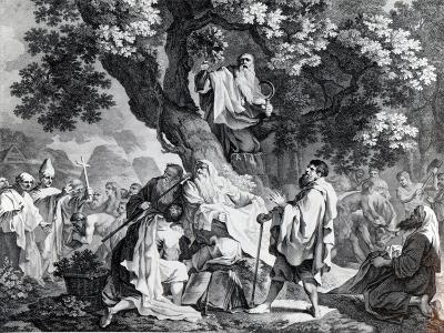 The Druids, or the Conversion of the Britons to Christianity, Engraved by Simon Francois Ravenet-Francis Hayman-Giclee Print