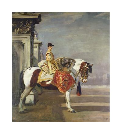 The Drum Horse-Sir Alfred Munnings-Premium Giclee Print