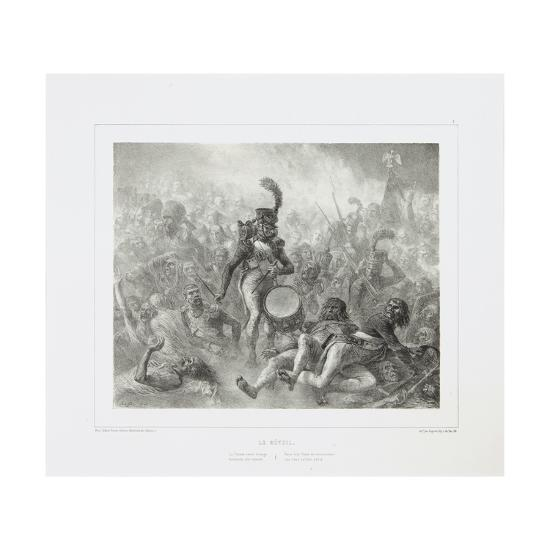 The Drum Waking the Dead Soldiers, 1842-Denis Auguste Marie Raffet-Giclee Print