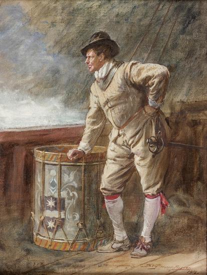 The Drum Watch, 1916-John Seymour Lucas-Giclee Print