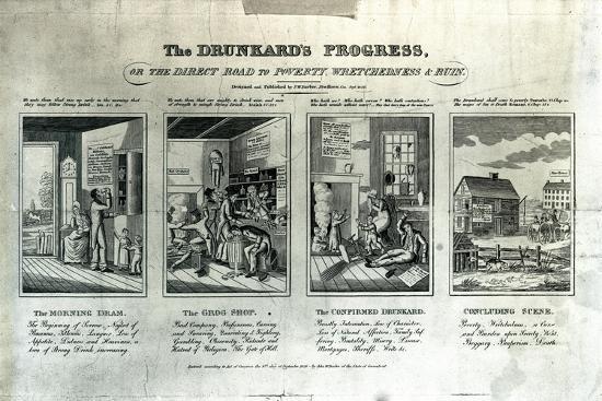 The Drunkard's Progress, 1826-John Warner Barber-Giclee Print