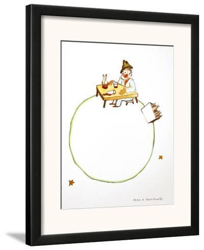 The Drunkard-Antoine de Saint-Exup?ry-Framed Art Print