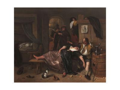 The Drunken Couple, 1655-Jan Steen-Giclee Print