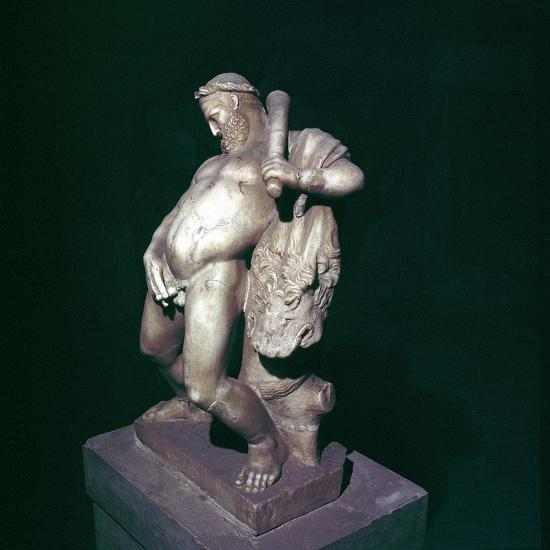 The drunken Hercules, House of the Stags, Herculaneum, Italy. Artist: Unknown-Unknown-Giclee Print