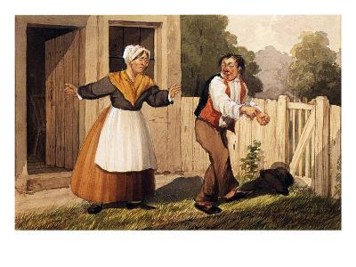 The Drunken Husband, C.1818-David Claypoole Johnston-Giclee Print