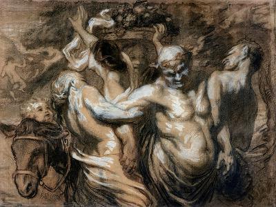 The Drunken Silenus-Honore Daumier-Giclee Print