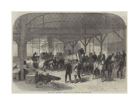 The Dublin Exhibition, Arrival of the Armstrong Guns--Giclee Print